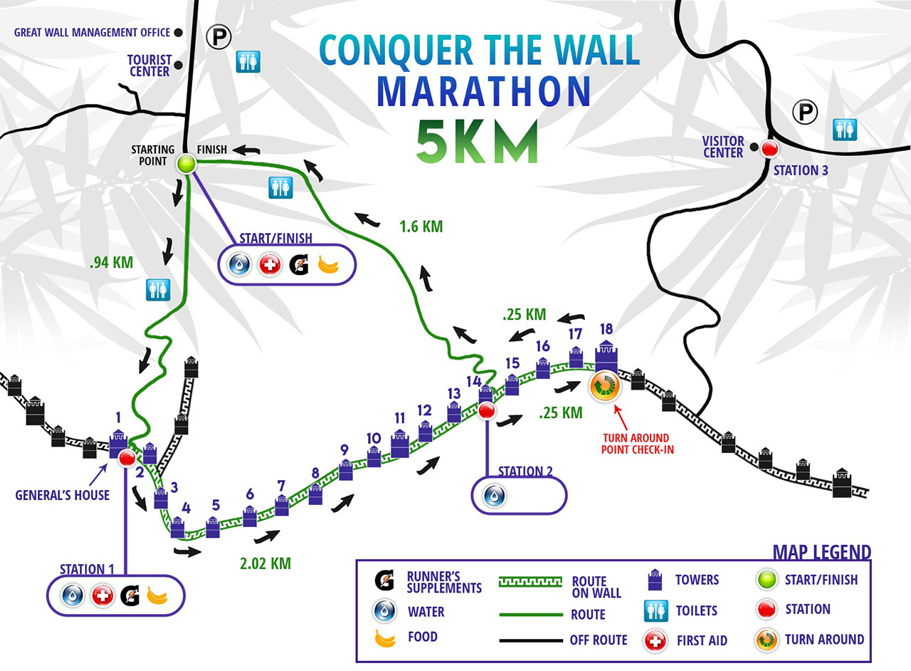 Course map - 5K